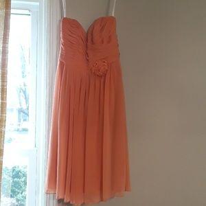 Salmon/Pink Bridesmaid Dress